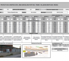 preoperacional de ruido aéreo en seis edificaciones